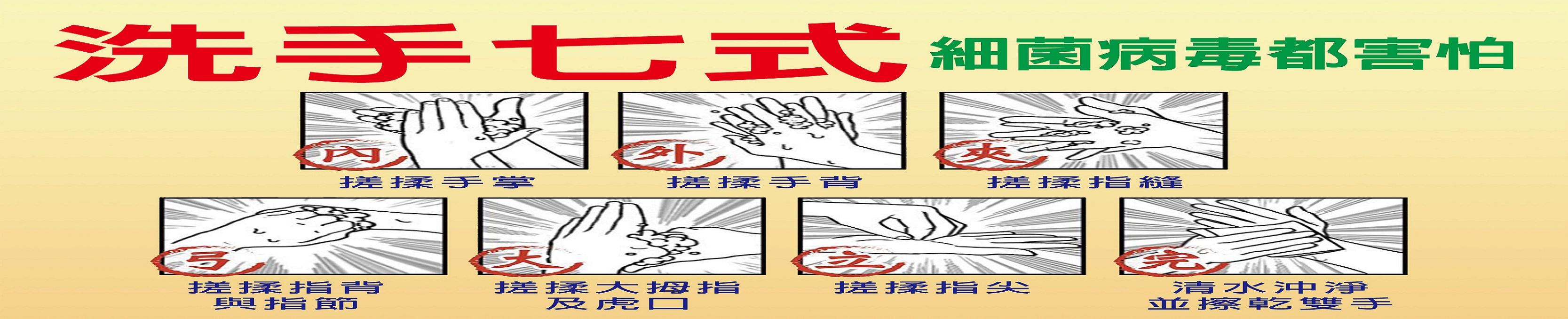 防疫宣導-洗手七式(另開新視窗)
